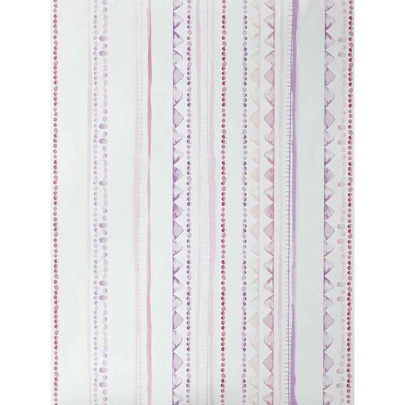 """Papier peint OH LA LA """" Rayures aqua """" rose et violet par Caselio"""