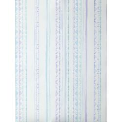 """Papier peint OH LA LA """" Rayures aqua """" bleu et violet par Caselio"""