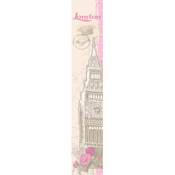 "Panoramique OH LA LA "" My London "" beige et rose par Caselio"
