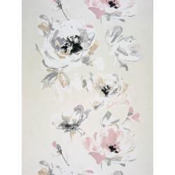 """Papier peint AMAZING """"guirlandes fleurs """" rose et gris par Casadeco"""