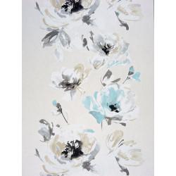 """Papier peint AMAZING """"guirlandes fleurs """" turquoise par Casadeco"""