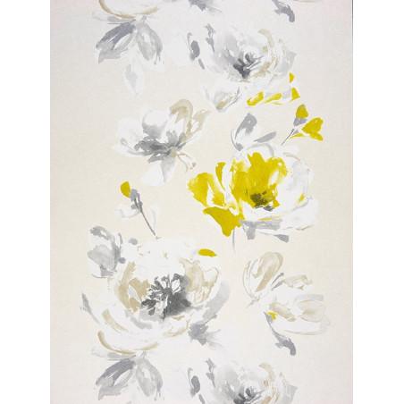 """Papier peint AMAZING """"guirlandes fleurs """" vert par Casadeco"""