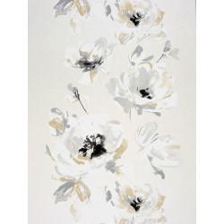 """Papier peint AMAZING """"guirlandes fleurs """" gris par Casadeco"""