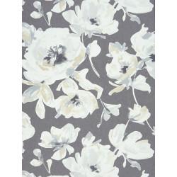 """Papier peint AMAZING """" All over fleur """" gris/noir par Casadeco"""