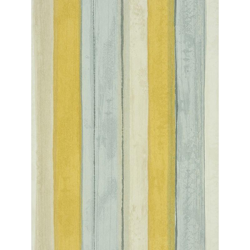 "Papier peint AMAZING "" rayures "" jaune/bleu par Casadeco"