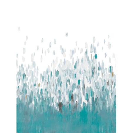 """Panoramique AMAZING """" abstrait """" bleu par Casadeco"""