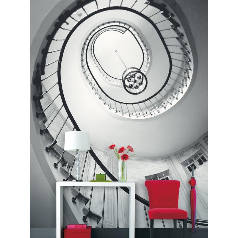 Panoramique intissé Opéra - collection BLACK and WHITE - Caselio