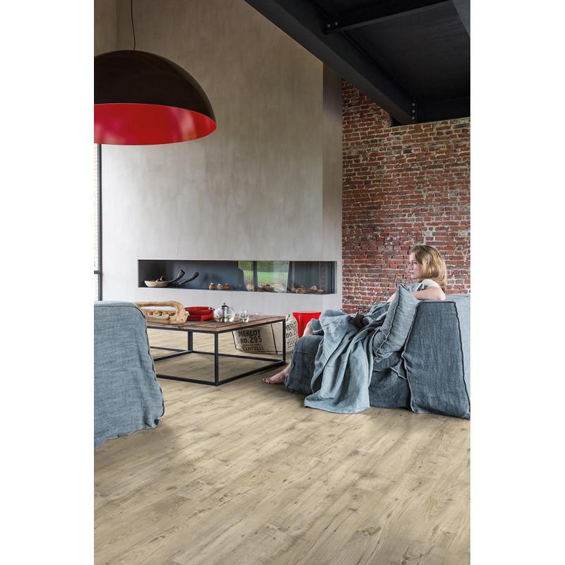 QUICK STEP - Lame PVC clipsable avec quatre chanfreins - Livyn Balance Click - châtaignier vintage clair