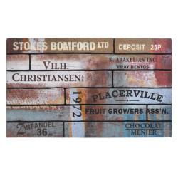 Paillasson caoutchouc recyclé intérieur/extérieur ECO MASTER Scrapwood vintage - Hamat