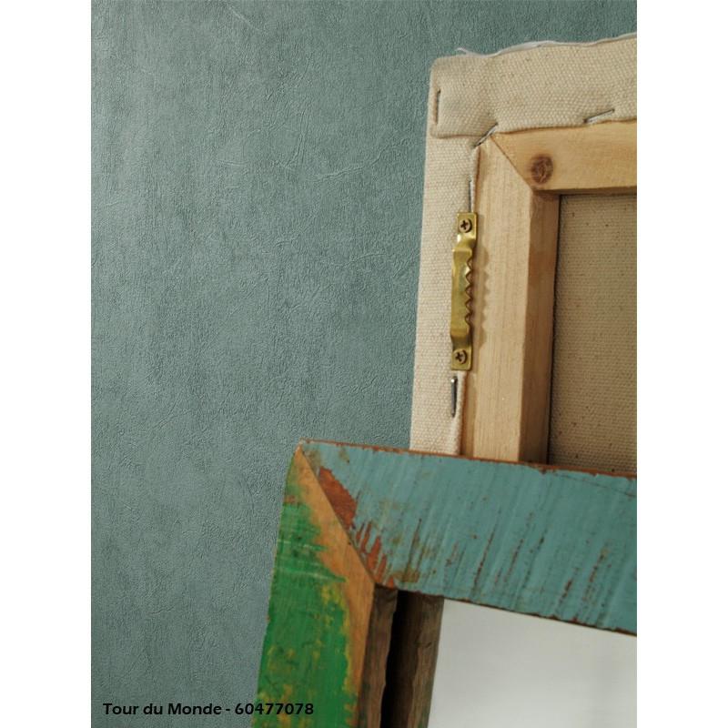 Papier peint Uni Bleu vert - TOUR DU MONDE - Caselio