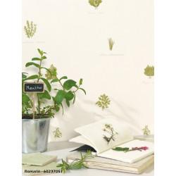 Papier peint à motif Herbier - ROMARIN - Caselio