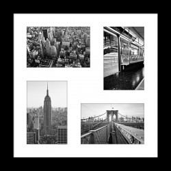 Cadre Multiphotos Manhattan - 38x38 cm - Graham & Brown