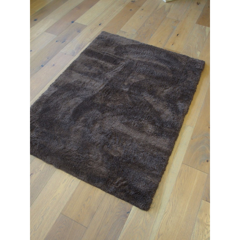 tapis shaggy como 115x160 cm marron. Black Bedroom Furniture Sets. Home Design Ideas