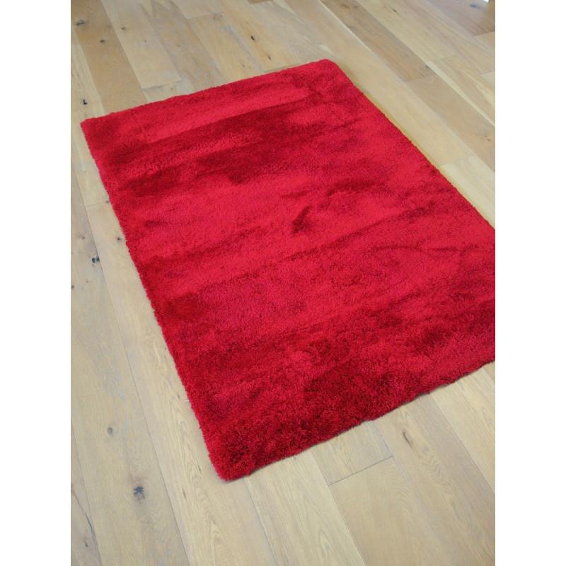 Tapis Shaggy Como - 115x160 cm - Rouge