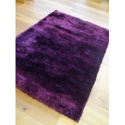Tapis shaggy pailleté Star - 120x170 cm - violet