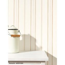 Papier peint à rayures couleur naturelle - ROMARIN - Caselio
