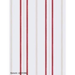 Papier peint à rayures rouge - ROMARIN - Caselio