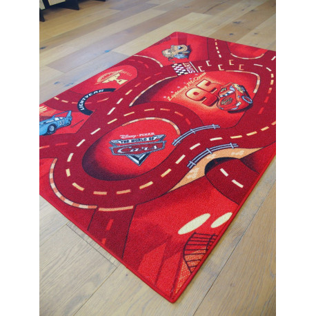 Tapis Disney Enfant - Cars : The world of cars - 95x133cm