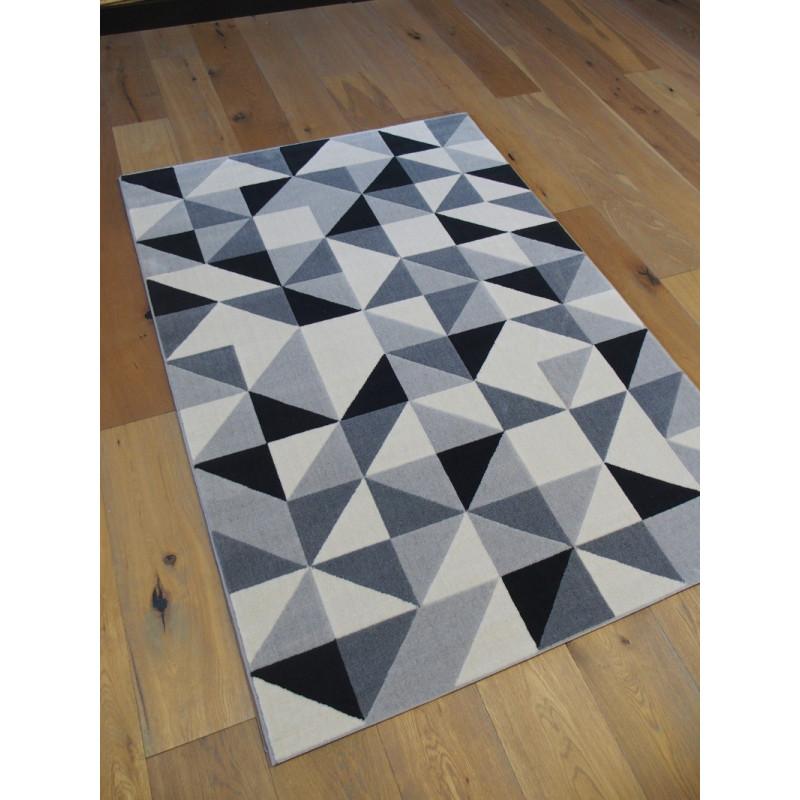 Tapis triangles scandinaves gris et noir - Canvas