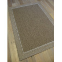 Tapis naturel tissé marron chocolat GRACE