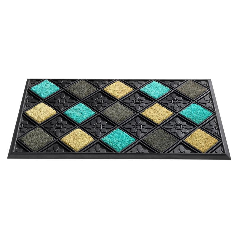 paillasson caoutchouc d 39 ext rieur scooby bleu gris beige. Black Bedroom Furniture Sets. Home Design Ideas