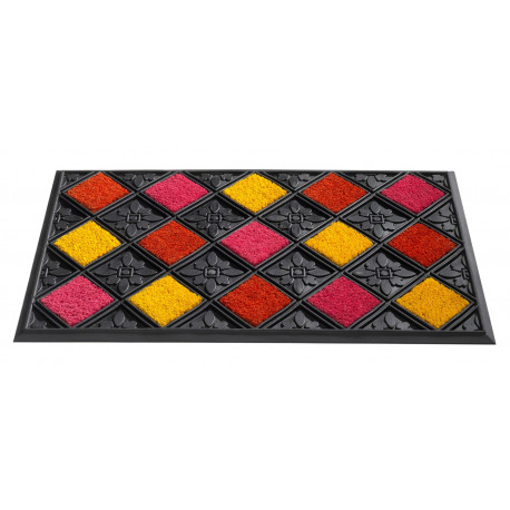 Paillasson caoutchouc d 39 ext rieur scooby rouge jaune rose for Tapis paillasson exterieur