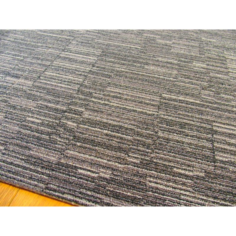 Dalle de moquette Consequence - gris/beige - rayures