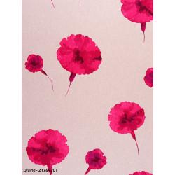Papier peint à motifs oeillets rose - Divine - casadeco