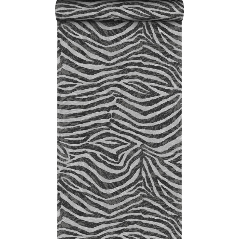 Papier peint zebra blanc noir animal graham brown - Papier peint graham brown ...