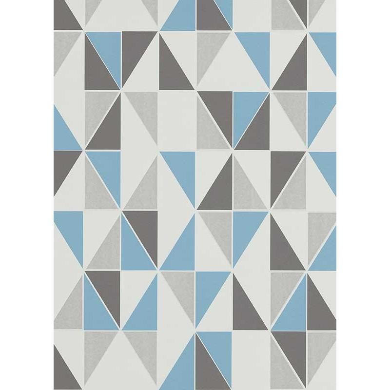 Papier peint Triangles bleu, scandinave. Erismann