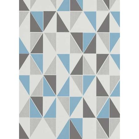Papier peint Triangles bleu, scandinave. Erismann Make Up 2