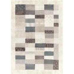 Tapis patchwork gris/beige - Maisense - 160x230cm