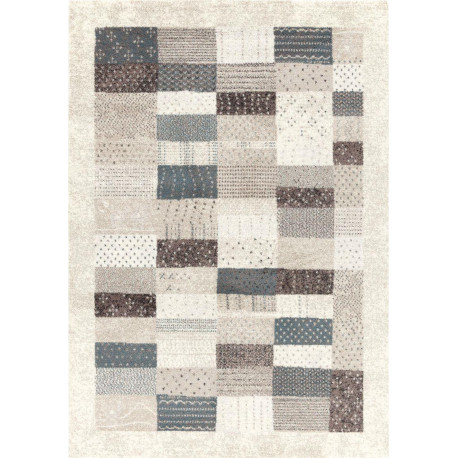 tapis patchwork gris beige maisense 160x230cm. Black Bedroom Furniture Sets. Home Design Ideas