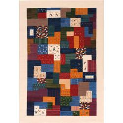 Tapis patchwork multicolore - Tigani - 120x150cm.