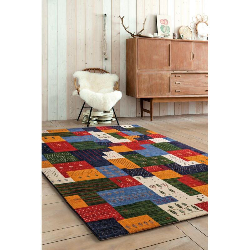 Tapis patchwork multicolore - Tigani - 140x190cm.