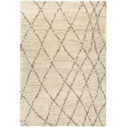 Tapis de laine beige à motifs losanges - LANA - 160x230cm.