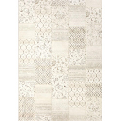 Tapis patchwork vintage beige - Piazzo - 135x200cm.
