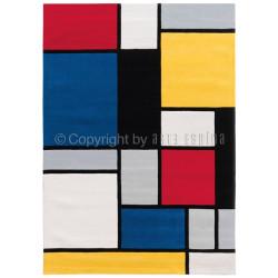 Tapis contemporain - SPIRIT - COLOURED CUBES, multicolor - Arte Espina