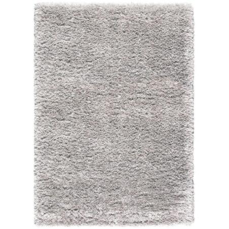 Tapis shaggy uni gris clair - RHAPSODY - 160x230cm et 200x290cm.
