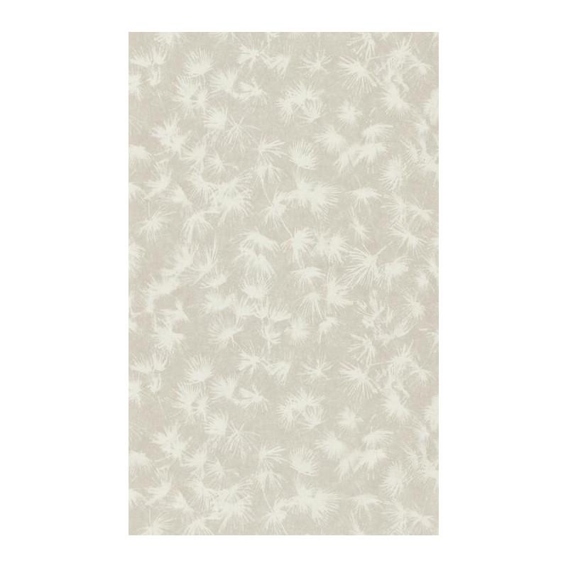 Papier peint fleuri ZAO - végétal beige