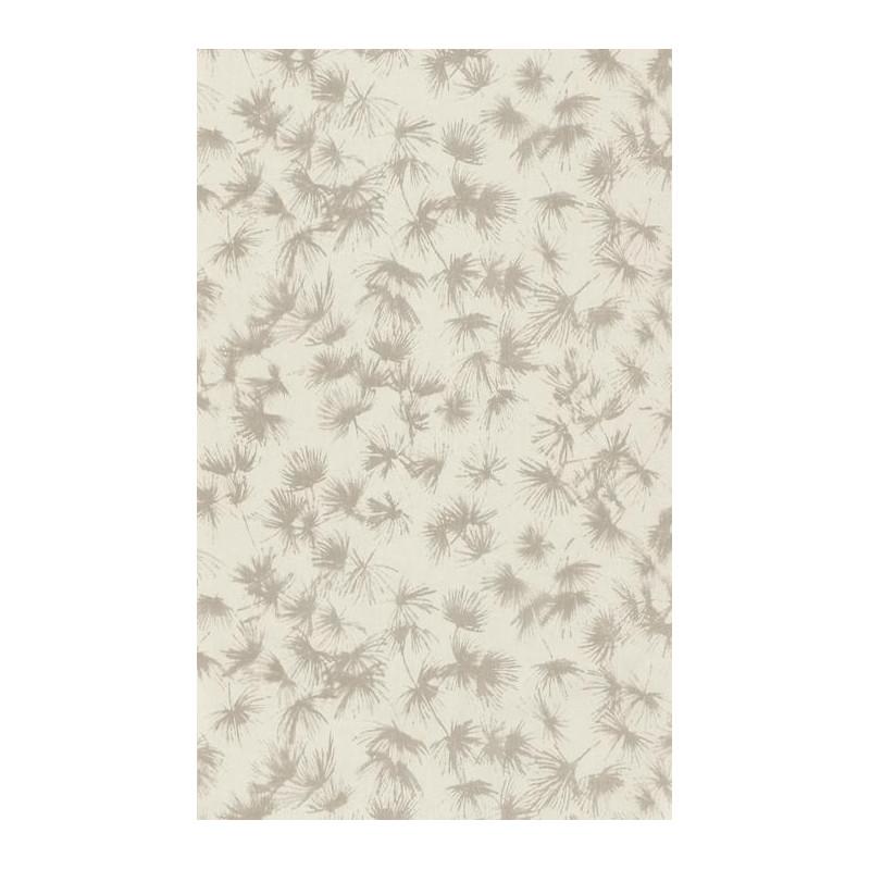 Papier peint fleuri ZAO - végétal taupe