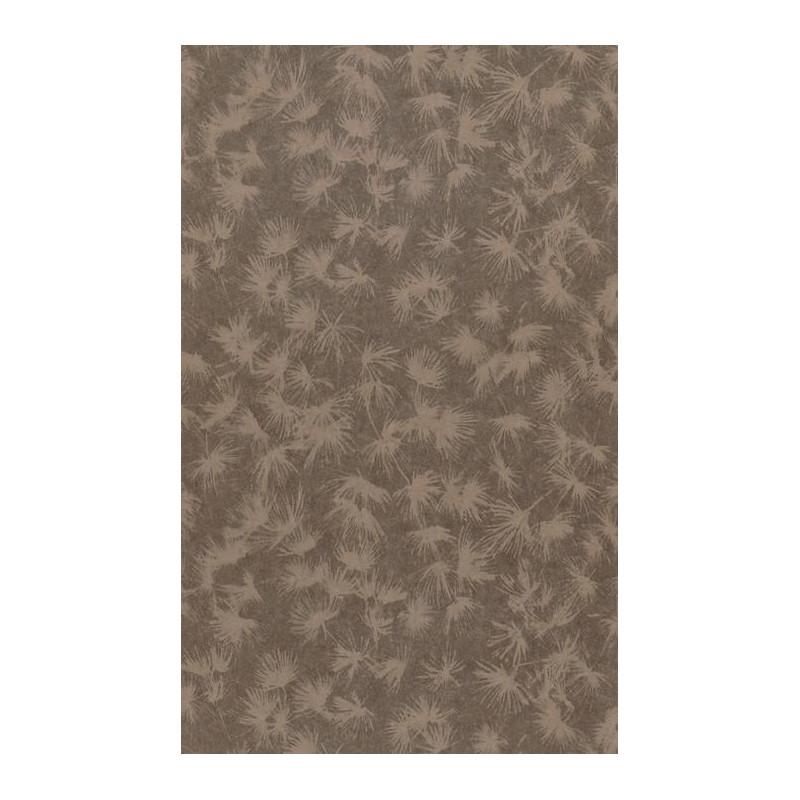 Papier peint fleuri ZAO - végétal cuivre/noir métallisé