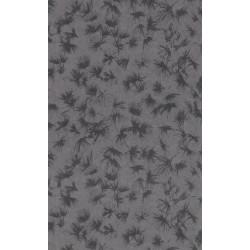 Papier peint fleuri ZAO - végétal noir