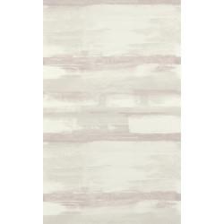 Papier peint à rayures ZAO - Effet peinture rose/taupe