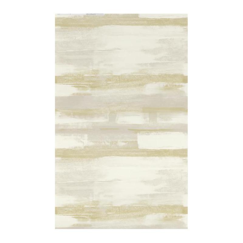Papier peint à rayures ZAO - Effet peinture vert/taupe