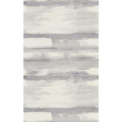 Papier peint à rayures ZAO - Effet peinture noir/gris
