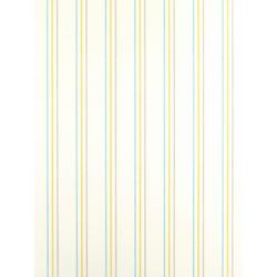 Papier peint Rayures vert et bleu - ALICE ET PAUL - Casadeco - AEP25567206