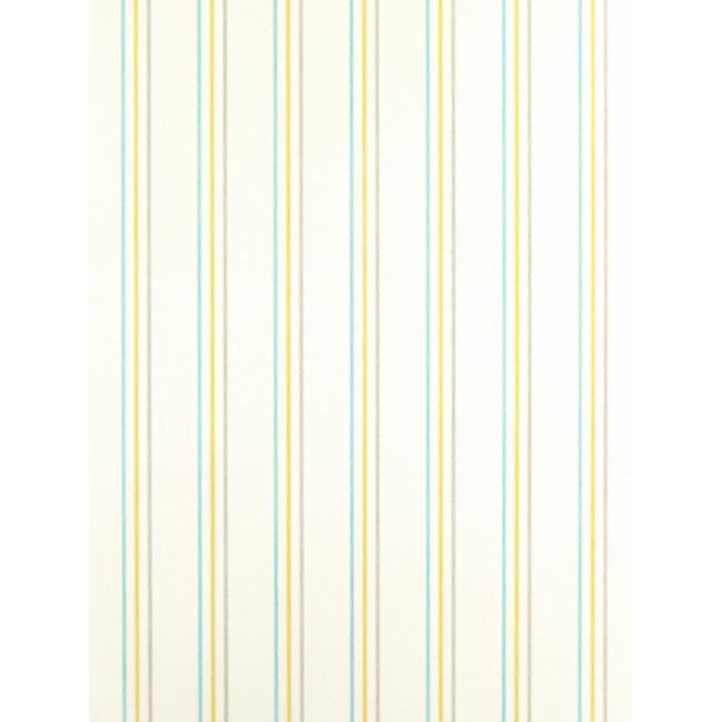 Papier peint ALICE et PAUL à rayures vert/bleu - Casadeco