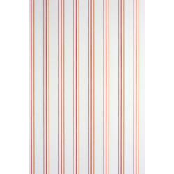 Papier peint ALICE et PAUL à rayures rouge/orange - Casadeco