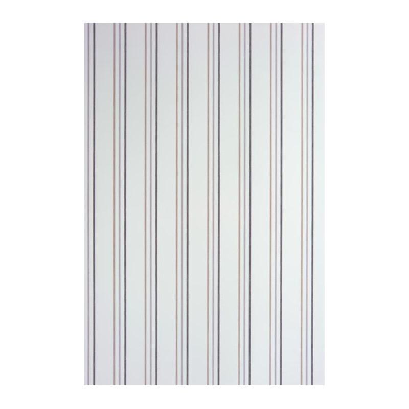 Papier peint alice et paul rayures blanc noir casadeco for Papier peint blanc noir